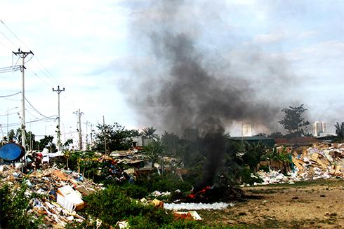 Đốt phế liệu gây ô nhiễm môi trường